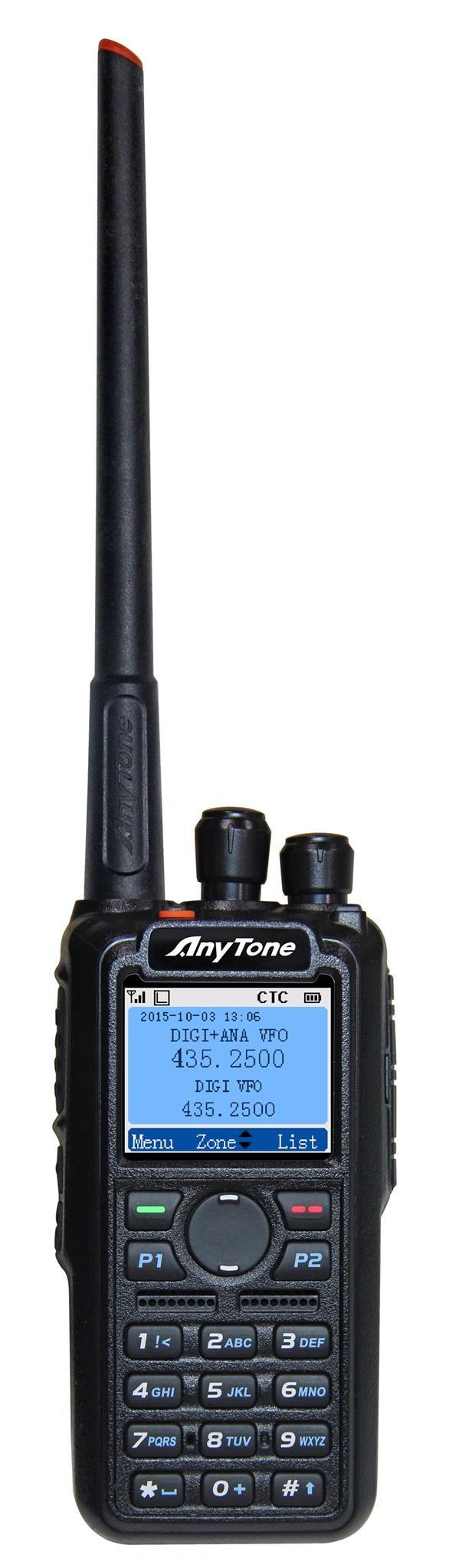 AnyTone AT-D868UV GPS Version II Upgraded 3100mAh battery Dual Band DMR/Analog 144 & 430 MHz Radio US Seller