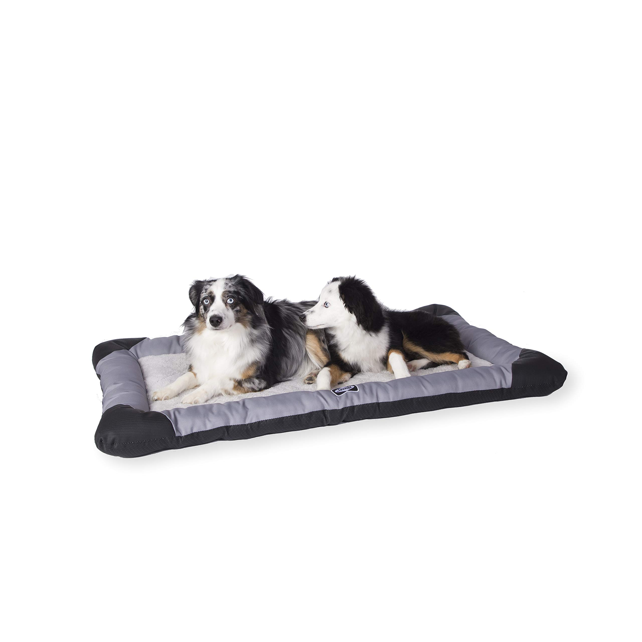 Sealy Quilted Memory Foam Heavy Duty Crate Pad Gray/Black, X-Large 30'' x 46'', X-Large (30'' x 46'') by Sealy Dog Bed