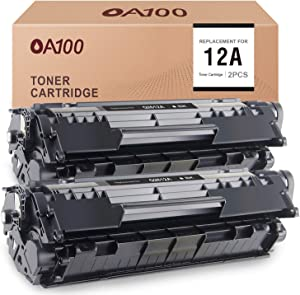 OA100 Compatible Toner Cartridge Replacement for HP 12A Q2612A for Laserjet 1020 1010 3030 3050 3055 3015 1018 1022 3020 1012 1022n (Black, 2-Pack)