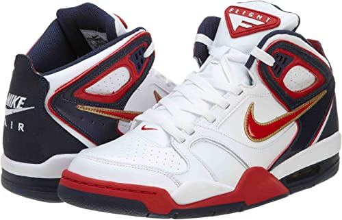 Mal de acuerdo a Darse prisa  Nike AIR Flight Falcon Trainers Code 397204-168 Colour wht/red/Navy UK Size  10: Amazon.co.uk: Shoes & Bags