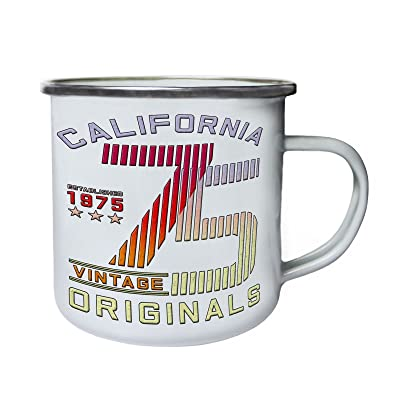 California Vintage Originals 75 Rétro, étain, émail tasse 10oz/280ml aa682e