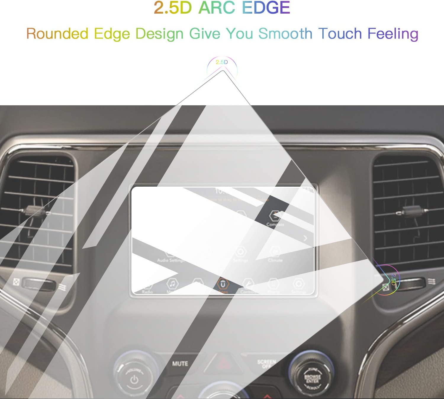 2019 2020 8.4In Screen Protector Foils for 2019 2020 Grand Cherokee Uconnect Navigation Display Tempered Glass 9H Hardness Anti Glare /& Scratch HD Clear Jeep LCD GPS Touch Screen Protective Film