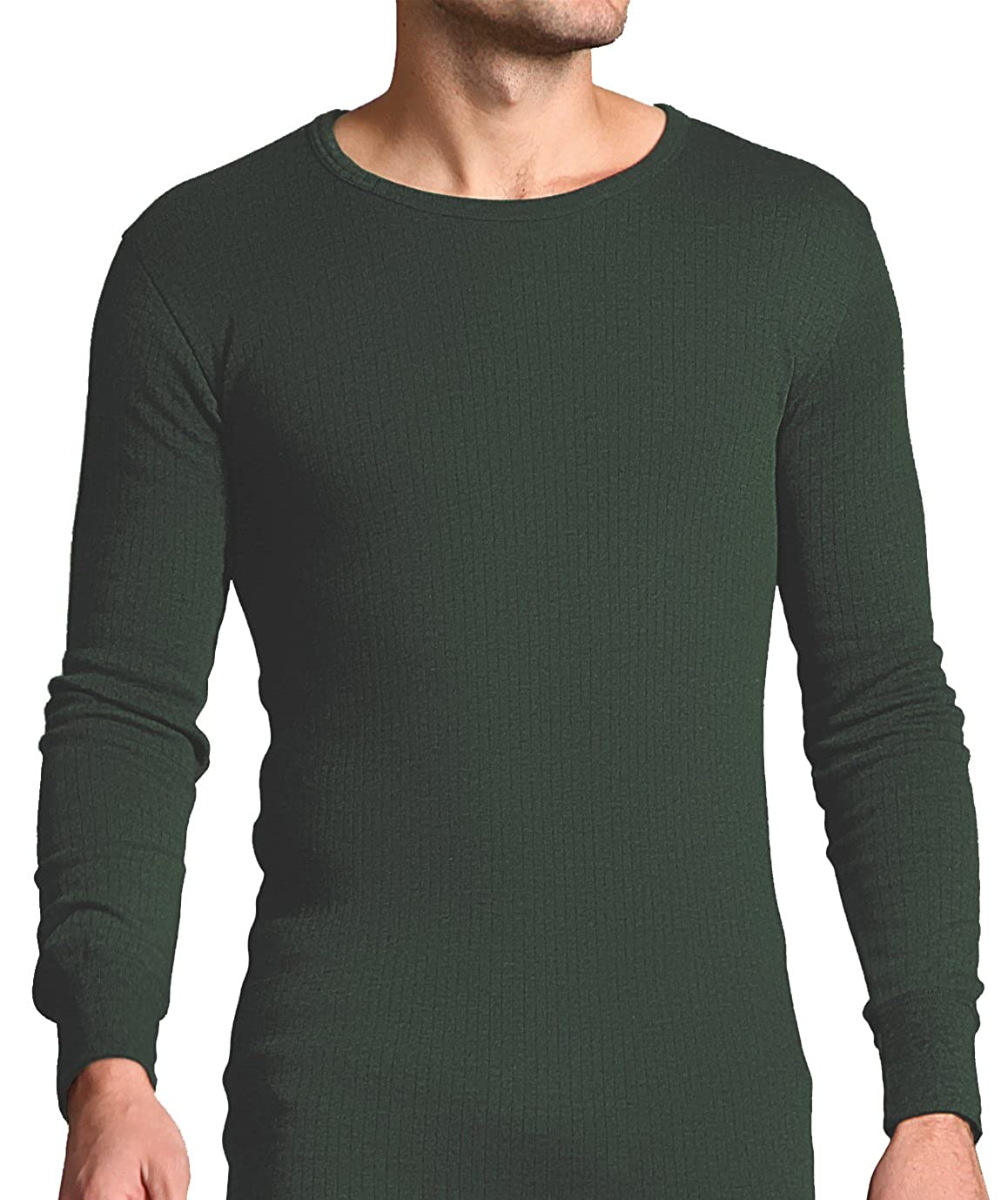 Forestman - Mens Thin Long Sleeve Warm Cotton Thermal Underwear Top Vest Shirt