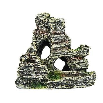 hunpta Cartoon resina castillo castillo de acuarios decoración acuario pecera Torre: Amazon.es: Productos para mascotas