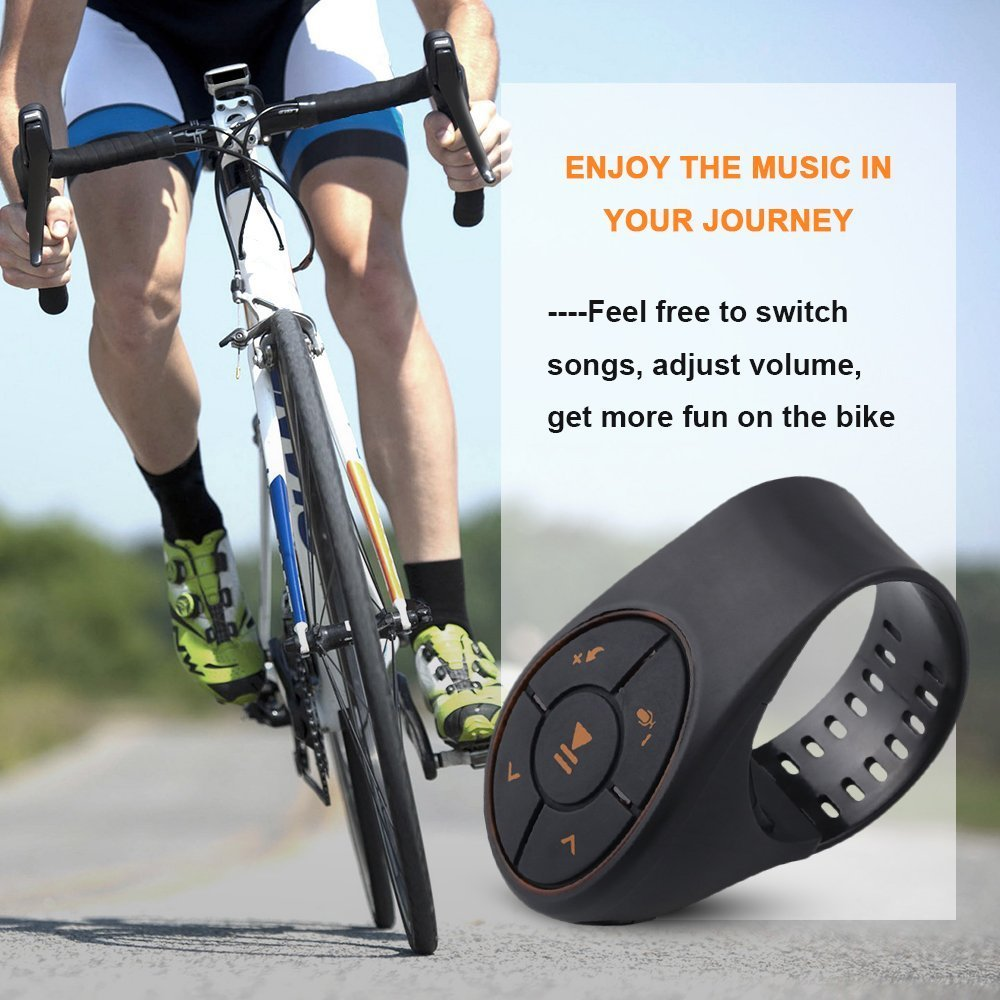 Steering Wheel Remote Control Bluetooth JIDIMI Music Audio Adapter Controller Car Media Button for Vehicle Bicycle Motorcycle