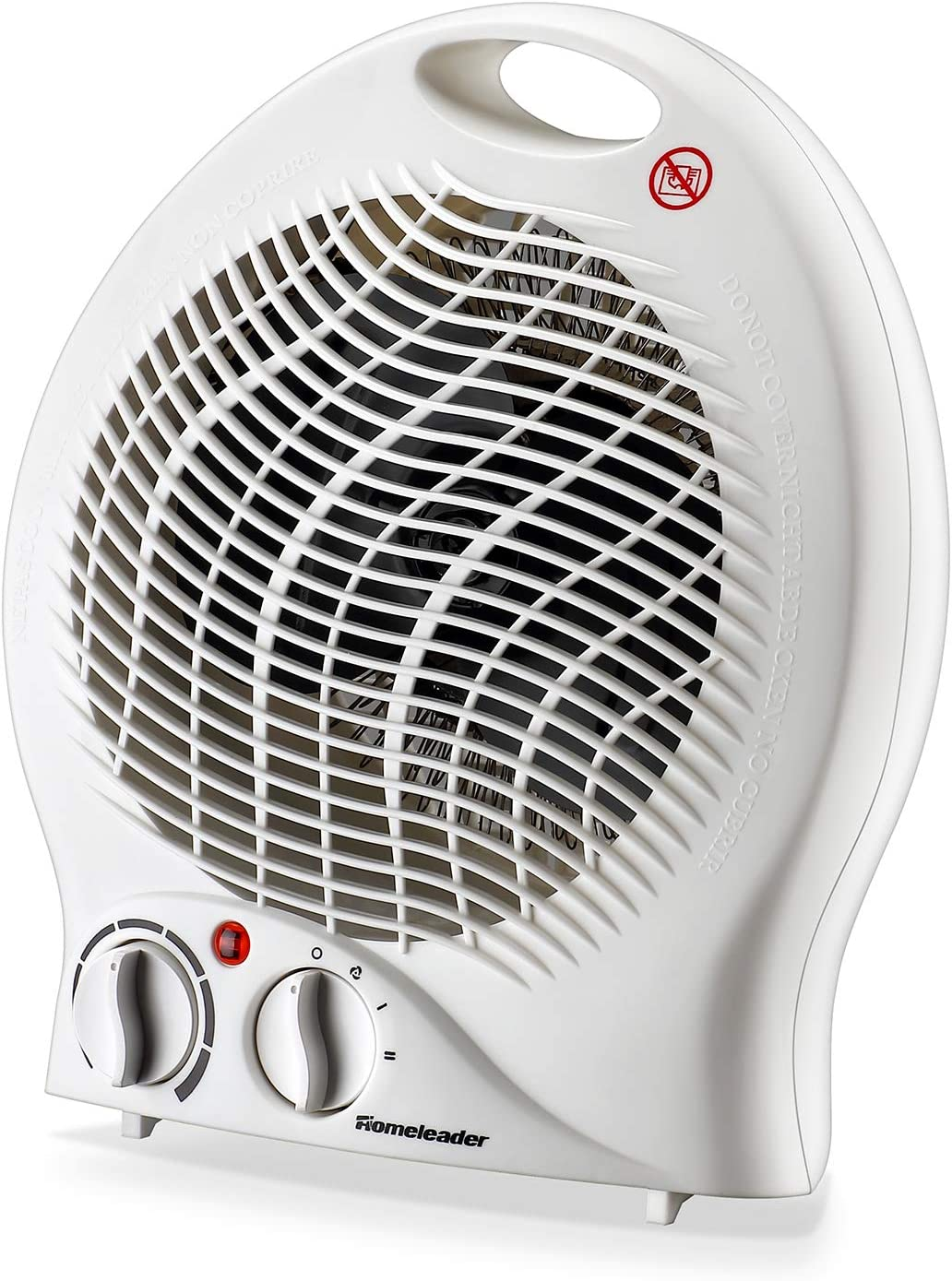 Portable Fan Heater, Homeleader Small Space Heater with Thermostat, Tabletop/Floor Ceramic Heater for Office