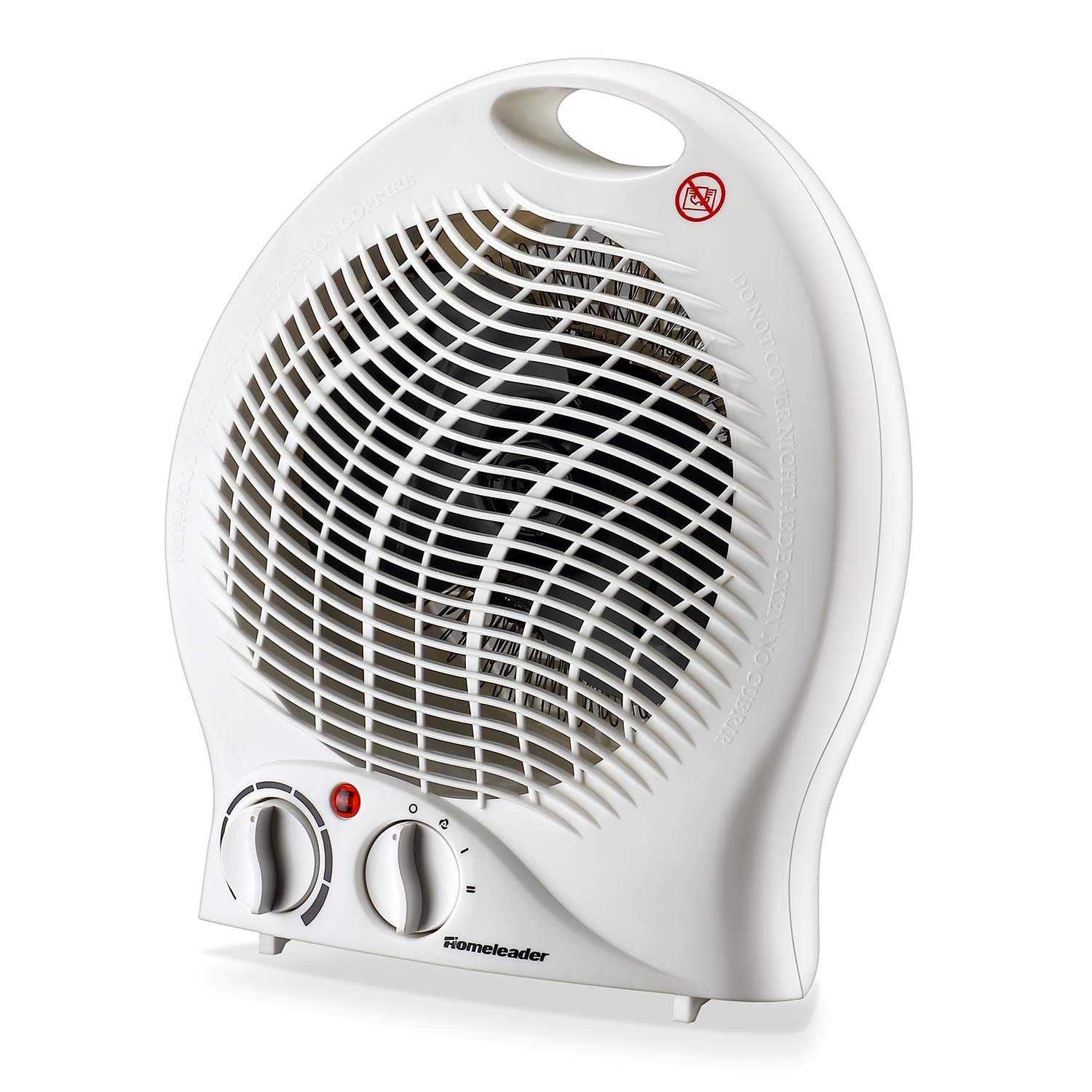 Homeleader 2-Speed Space Heater, Portable Fan Heater with Thermostat, Tabletop Floor Ceramic Heater for Office Small Space