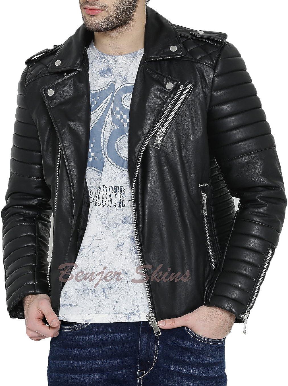 Mens Stylish Lambskin Genuine Leather Jacket 485