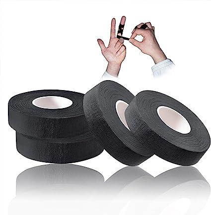 Tusenpy 4 Rolls Cinta de Dedo, Fleje Fuerte y Duradero Diseñada para Deporte, Artes Marciales, Cinta Ju-Jitsu, 1.5cm * 13.7m