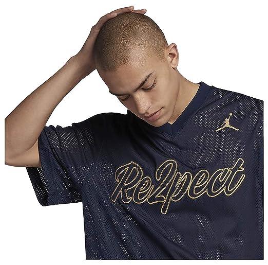295ff257665d34 NIKE Jordan Men s Re2pect Baseball Training Jersey-Navy at Amazon Men s  Clothing store