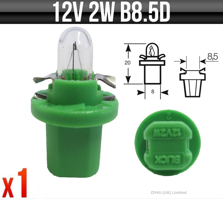 12 V 2 W B8 5d Grün Sockel Blinker Und Panel Leuchtmittel Ring Armaturenbeleuchtung R509tgr X1 Auto