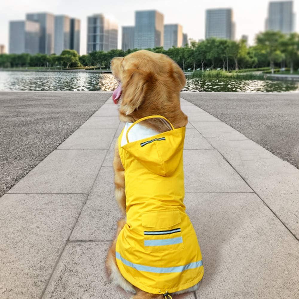 Rain Slicker Large Breed Dog Raincoat Dog Clothes Waterproof Dog Coat Dog Jacket Membrane material Fleece or Mesh Lining Windbreaker