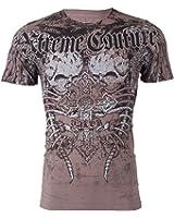 Xtreme Couture AFFLICTION Men T-Shirt ROT Skulls Wing Tattoo Biker UFC