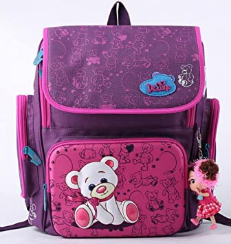 Amazon.com : Cartoon Bear Backpack School Satchel Children School Bags Orthopedic Waterproof Backpacks Girls School Backpacks mochila escolar barn gave ...