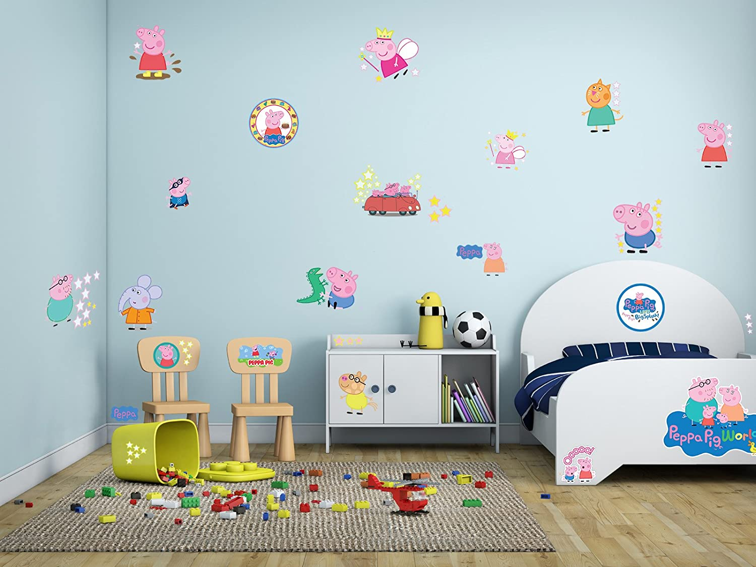 Peppa pig wall mural image collections home wall decoration ideas peppa pig wall stickers decal kids room bedroom children peppa001 peppa pig wall stickers decal kids amipublicfo Images