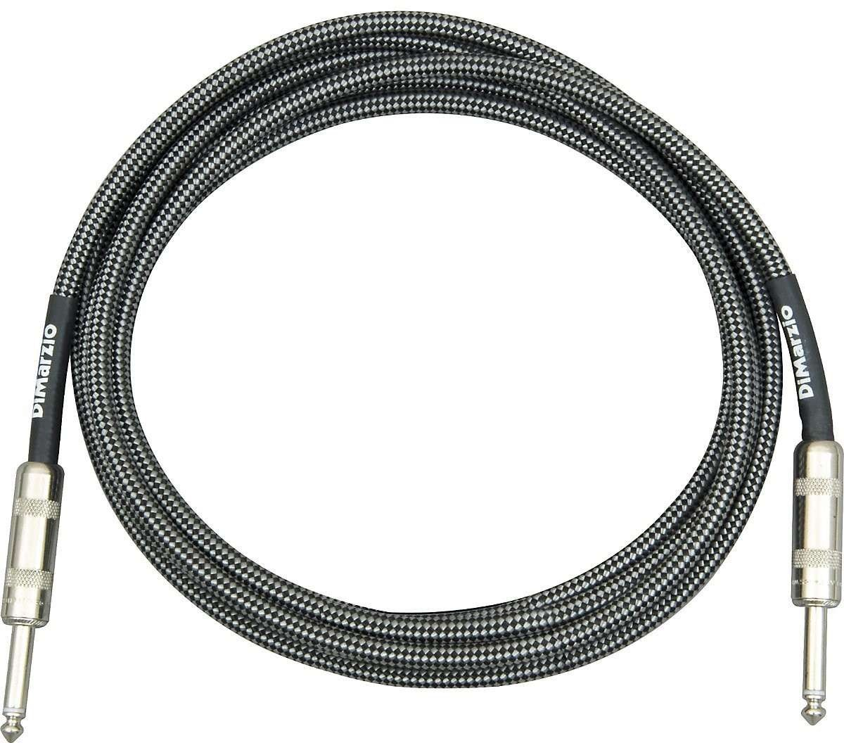 DiMarzio Instrument Cable Black and Silver 18 ft.