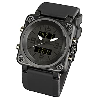 amazon com infantry mens tactical military analog digital infantry mens tactical military analog digital multifunction sport wrist watch black rubber