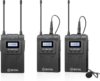 Boya UHF Sistema de micrófono inalámbrico Lavalier con ...