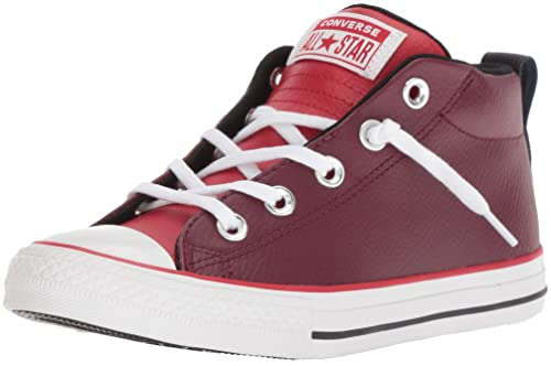 b74e43da9f68 Converse Boys  CTAS Street MID Dark Burgundy Enamel RED Sneaker
