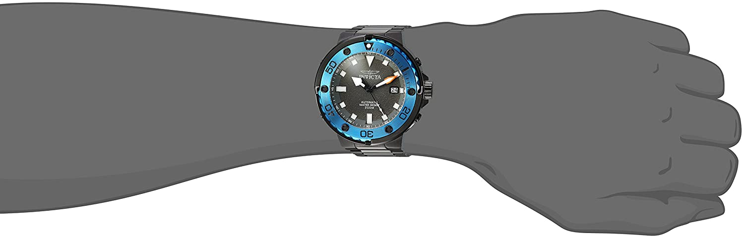 Invicta Men Pro Diver AutomaticselfWind Diving Watch with StainlessSteel Strap Black 26 Model 24466