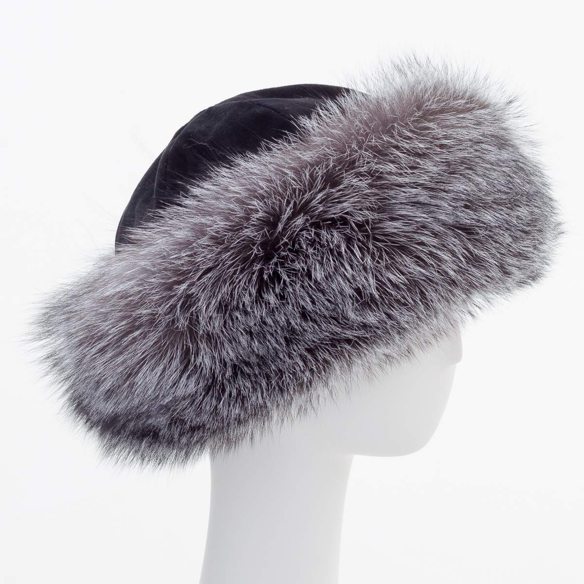 surell Fox Cuff Winter Hat - Warm Winter Fashion - Bridal Wedding Attire Black by surell (Image #3)