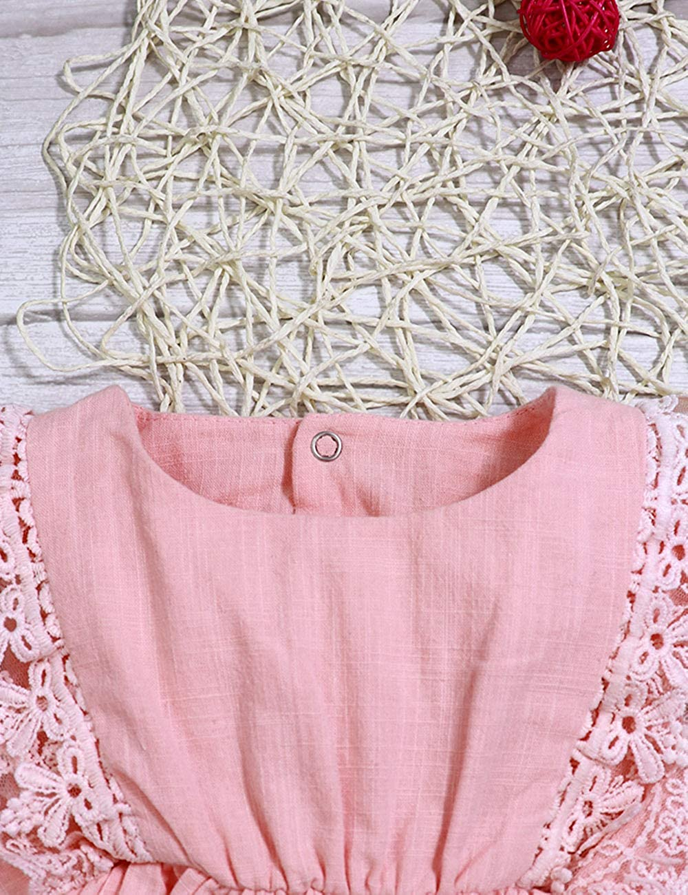 Baby Girl Romper Bodysuits Lace Flutter Sleeveless Bowknot Jumpsuit Outfits Clothes