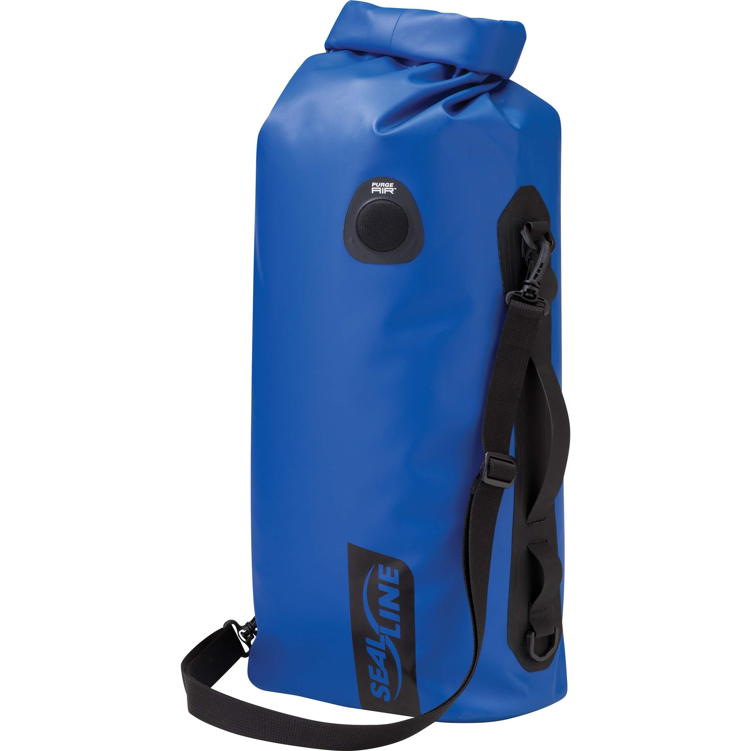 SealLine Discovery Deck Waterproof Dry Bag with PurgeAir, Blue, 30-Liter