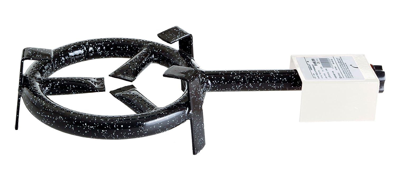 Paella World International Paella-Gasringbrenner, 1-Ring, Schwarz, Ø 20 cm