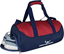 Urban Tribe Bolt Unisex Polyester 28 L Red Gym Bag with Shoe Compartment