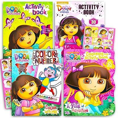 Buy Dora The Explorer Coloring Book Super Set -- 3 Dora Coloring Books With  Bonus Sticker Bundle Dora And Friends Party Supplies Online In Kuwait.  B071ZZMN56