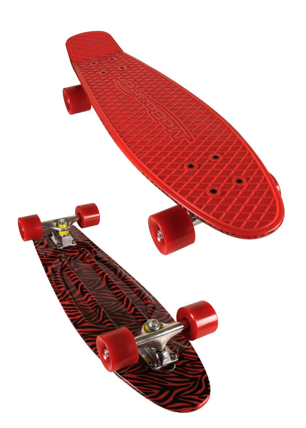 MoBoard 27'' Inch Graphic Complete Skateboard (Red/Graphic - Red)