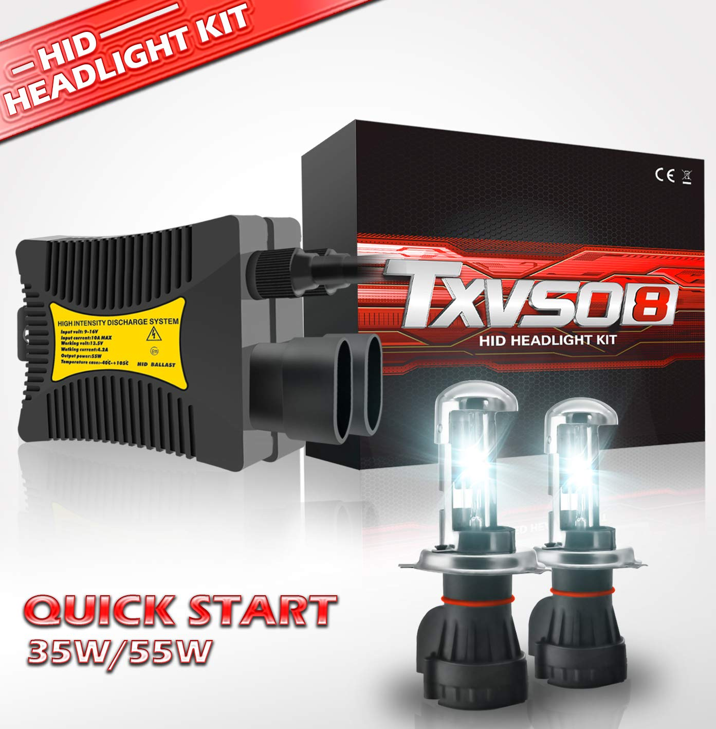 HB4 Phare 55W HID Conversion KIT Ampoules H1 H3 H4 H8 H11 9005 9006