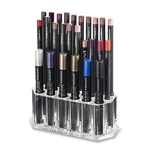 Holder Acrylique Eye Liner / Lip Liner Organisateur & Beauty Care fournit 26 Espace de rangement | byAlegory (Clear) Organisateur de maquillage