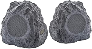ION Audio Sound Stone 2 Wireless Outdoor Rock Speakers (Pair) - Dark Gray