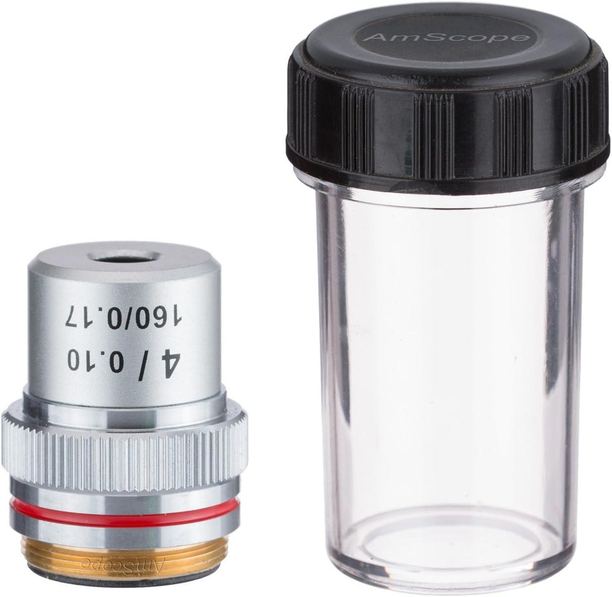 AmScope A4X 4X Achromatic Microscope Objective