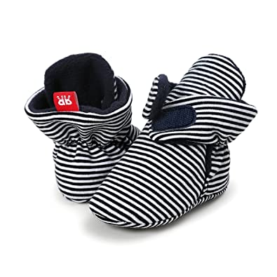 2b2c17226bcbc Sabe Infant Boys Girls Warm Fleece Ankle Booties Soft Sole Unisex Strap  Slippers First Pram Non-Skid Winter Baby Shoes Christmas First Birthday Gift