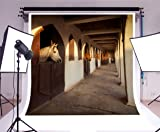 OFILA Horse Stable Backdrop 10x10ft Western Ranch