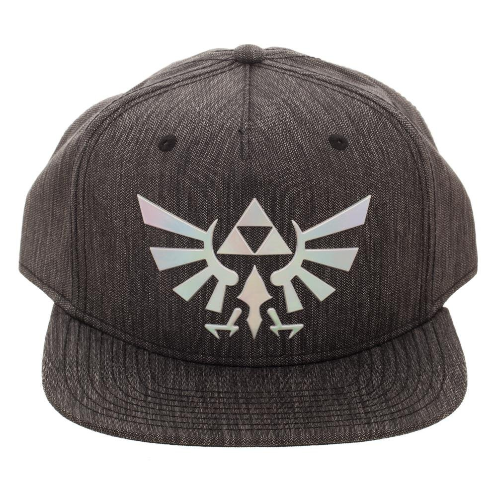 4efa6adbef9 Amazon.com  Legend of Zelda Logo Iridescent Weld Woven Fabric Snapback Hat   Clothing