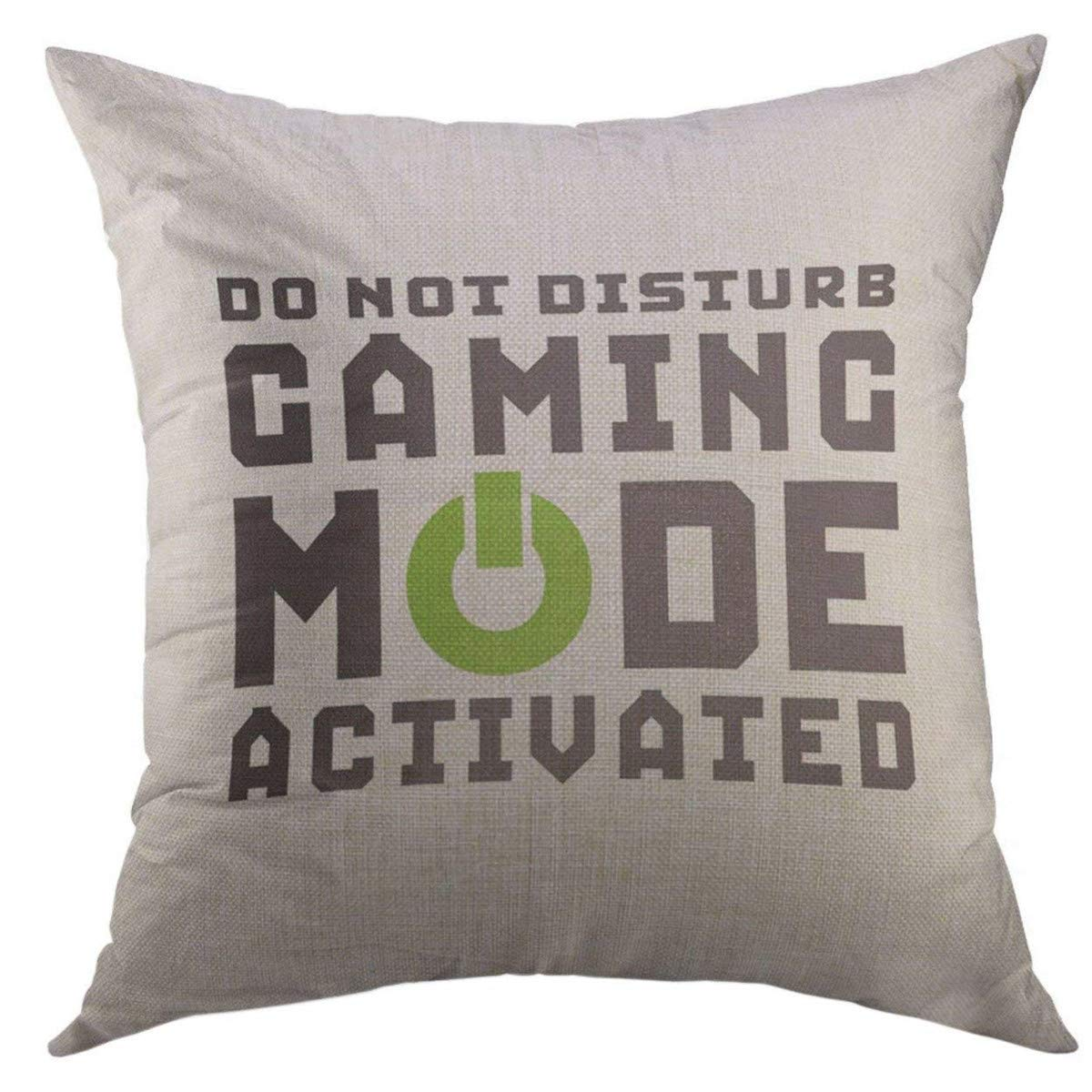 Pleasant Mugod Decorative Throw Pillow Cover For Couch Sofa Quote Humor Funny Gamer For Video Games Geek Gaming Black Mode Home Decor Pillow Case 18X18 Inch Uwap Interior Chair Design Uwaporg