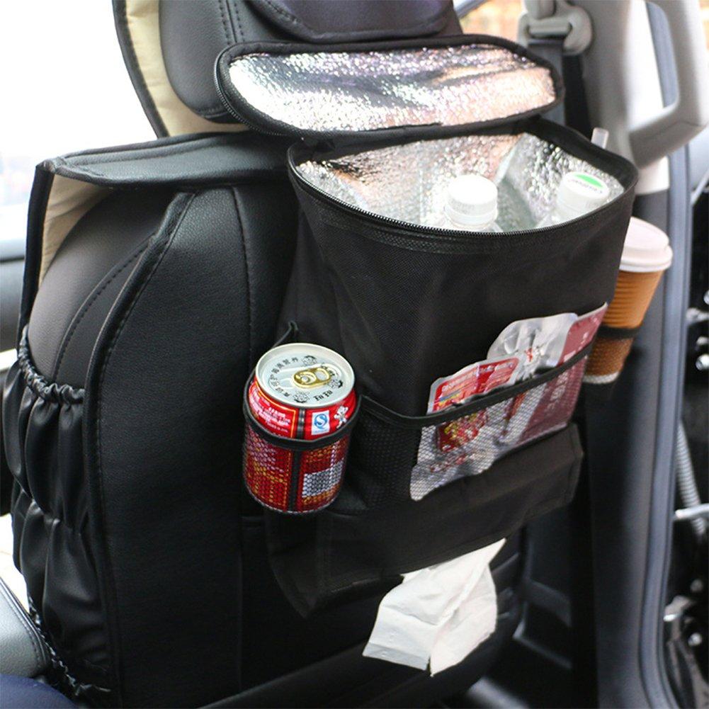 BIBIone Multi-Pocket Insulated Car Van SUV Back Seat Organiser Travel Storage Bag Car accessories Car Organisers Waterproof Seat Back bag