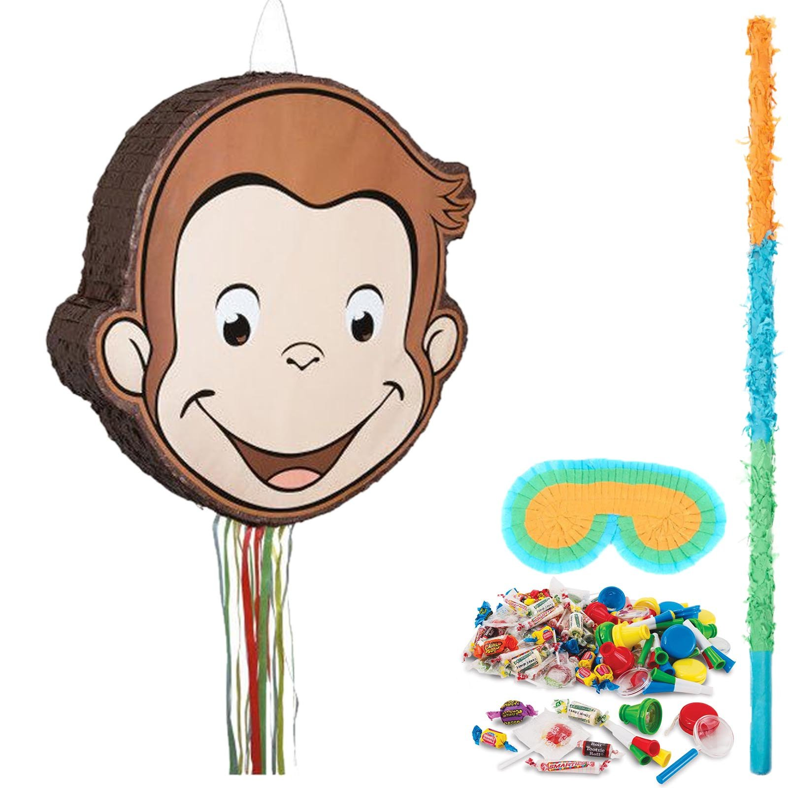 BirthdayExpress Curious George Party Supplies Pinata Kit