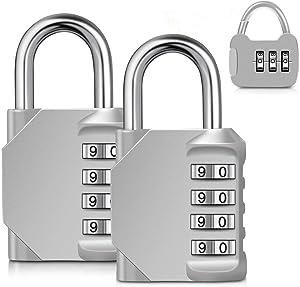 TOPLUS Locker Lock, 4 Digit Combination Lock Locks Resettable Lock Padlock Set Your Own Combination for Gym Locker Small Lock, 3 Pack Outdoor Waterproof