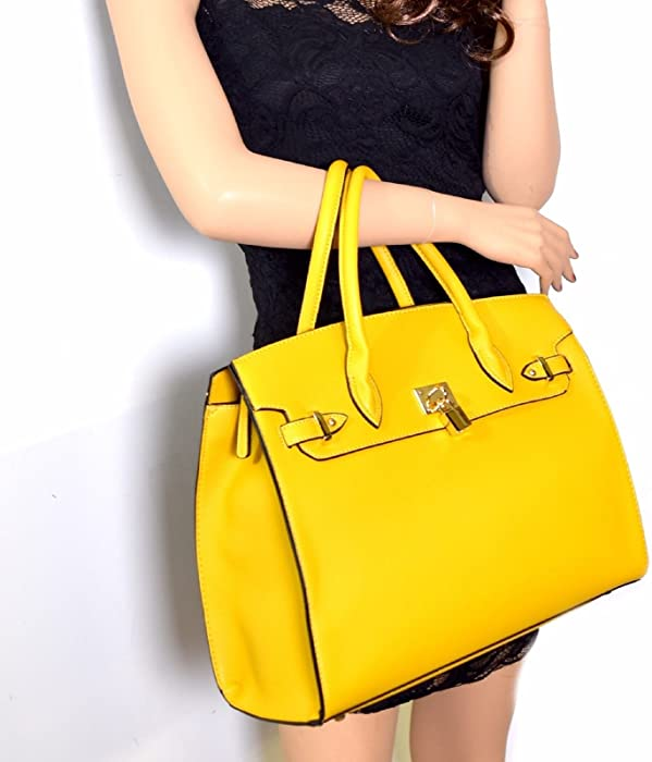 d82b70d5c40e Deluxity LARGE Carry-all Padlock Accent Tote w/ Strap + Wallet ...
