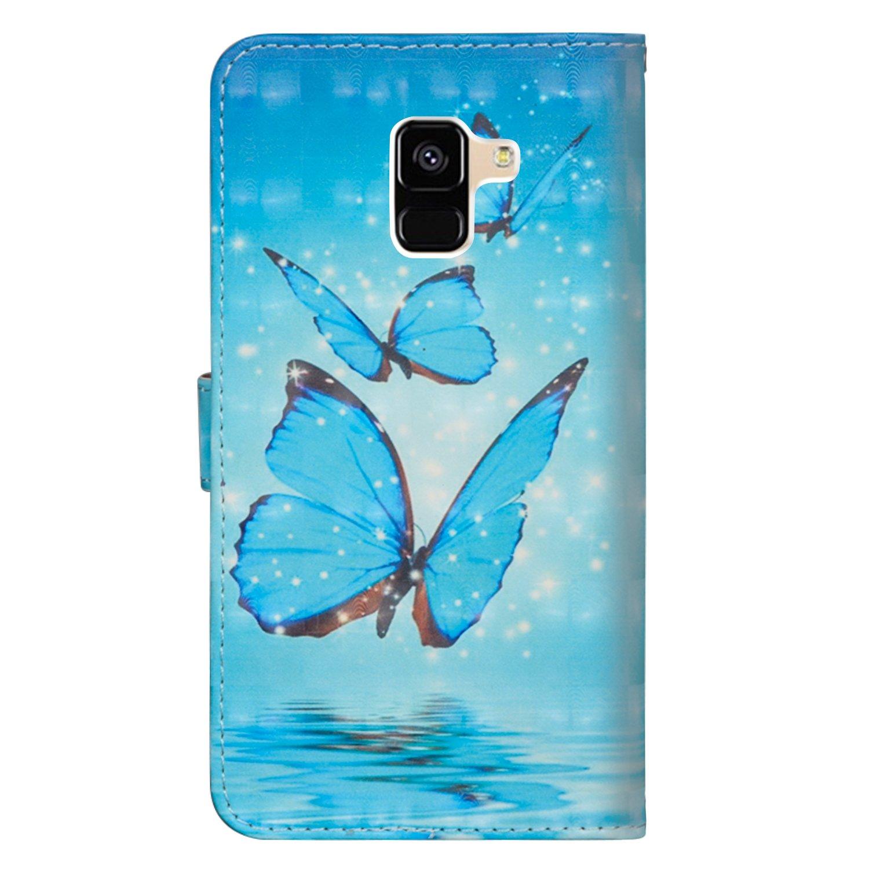 sinogoods para Samsung Galaxy A6 2018 Funda, Cuero De La PU Magnético Capirotazo Billetera Apoyo Bumper Protector Cover Funda Carcasa Case: Amazon.es: ...