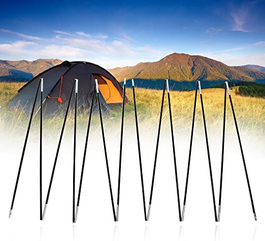 VGEBY Tent Pole Rod 2 Sets 7 Sections Replacement Poles Durable Portable Compact for Fishing Beach Picnic