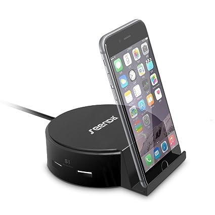 Desktop Charging Station, Seenda 4 Port USB Charger Wall / Travel Charging  Dock With