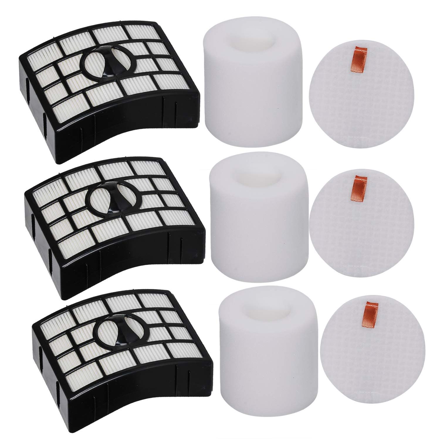 HIFROM Replacement HEPA Filter & Foam Felt Filter for Shark Rotator Powered Lift-Away Models NV650 NV650W NV651 NV652 NV750W NV751 NV752 NV831 NV835 AX950 AX951 Vacuums Replaces Part# XFF650 & XHF650