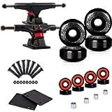 LOSENKA Skateboard Wheels Set,Include Skateboard Trucks, Skateboard Wheels 52mm, Skateboard Bearings, Skateboard Pads…