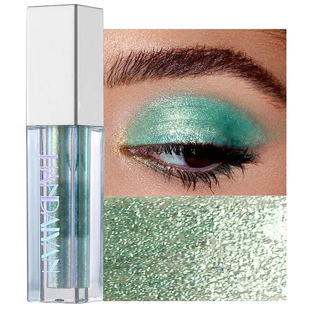 Kisshine Liquid Eyeshadows Colorful Long Lasting Eye Shadow Party Shimmer Waterproof Eyeshadow Cosmetics Gift For Women and Girls Pack of 1 (Green 10#)