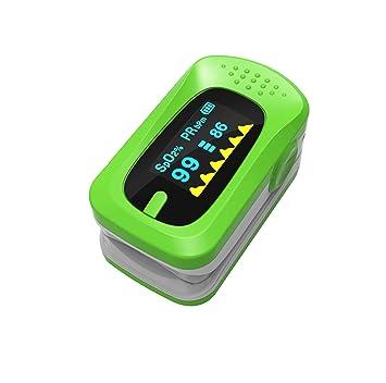 SUN RNPP Oxímetros Oxímetro medición con la Punta del Dedo Detector portátil de Ritmo cardíaco con saturación de oxígeno y Pinza de Dedo,Green: Amazon.es: ...